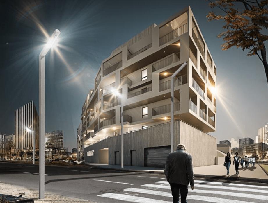 L edda construction de 43 logements collectifs en r 6 for Garage grimm montpellier